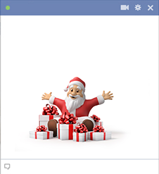 Facebook Santa sticker with Gifts