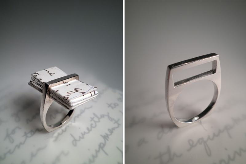 wearing words from the heart the love letter ring by one With love letter ring