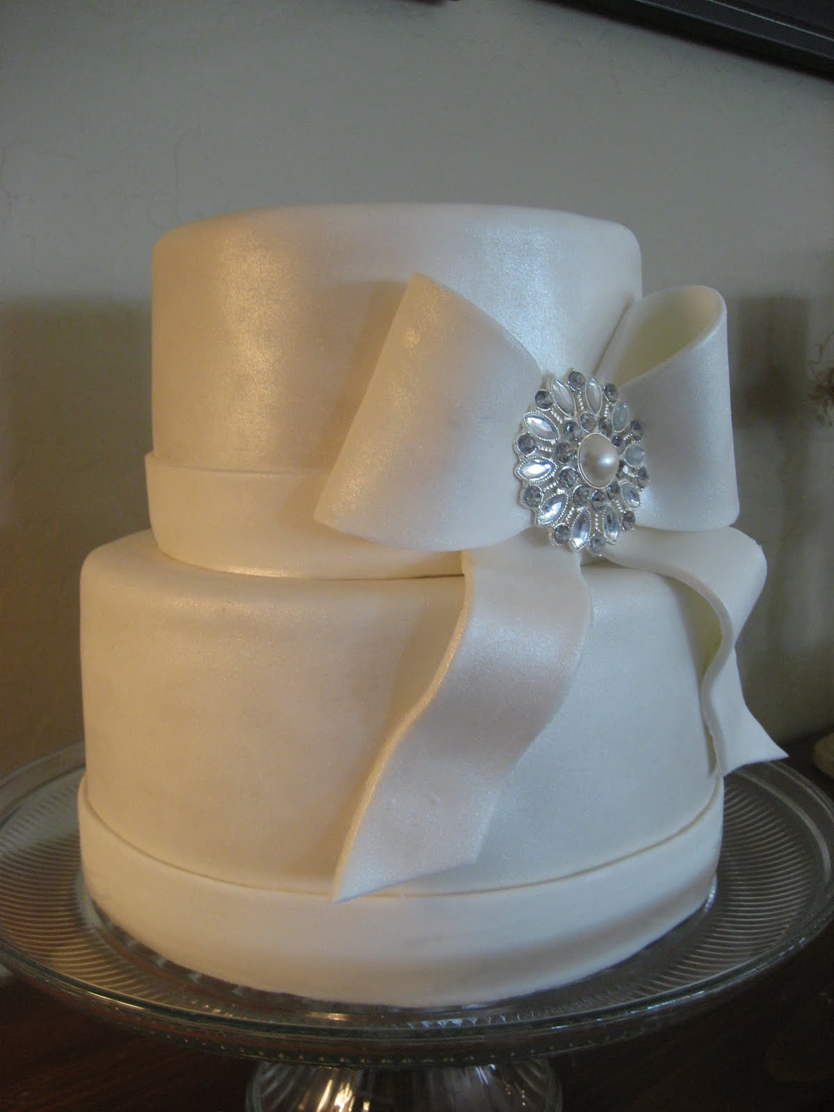 simple wedding cake this cake was for a small wedding vanilla cake