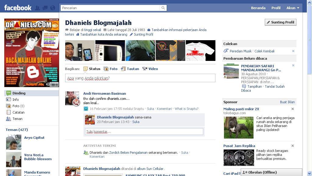 Cara Buat Foto Pro Facebook Jadi Menyatu Dengan Dinding