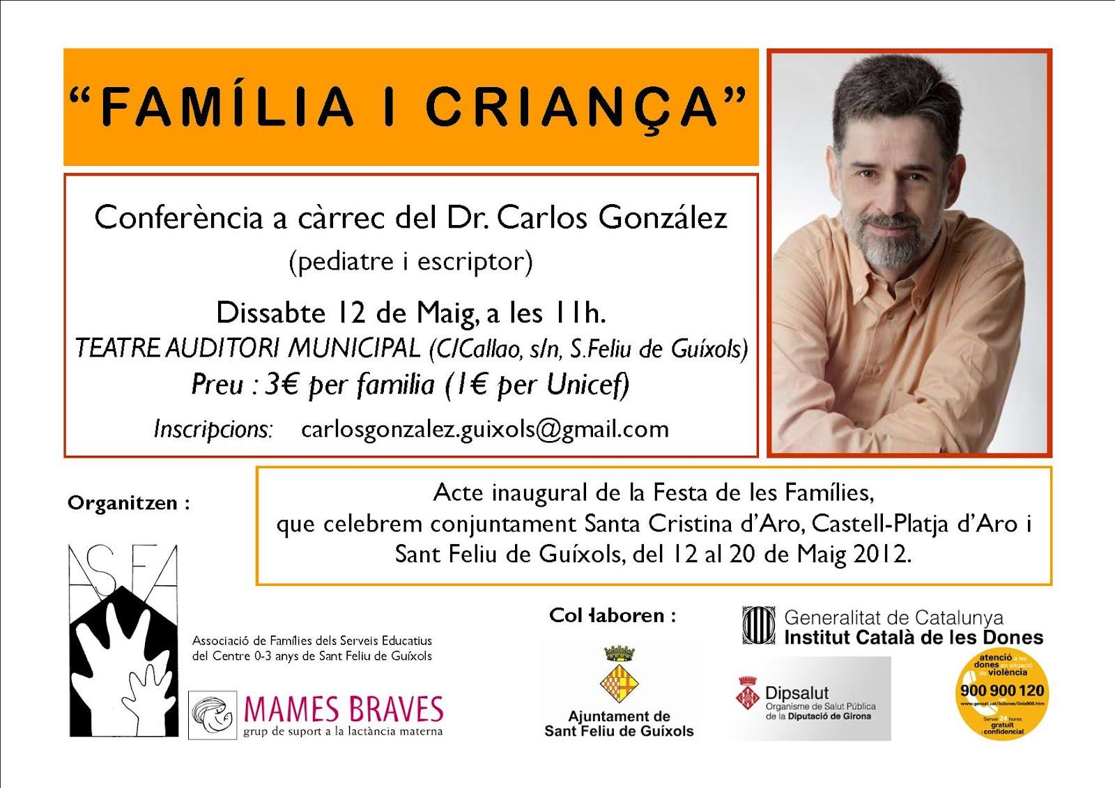 Dr. CARLOS GONZALEZ a Sant Feliu de Guíxols, dissabte 12 de Maig de 2012