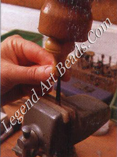 Hold the tool in the safe jaws of the vise and use a mallet to hammer down the handle onto it.