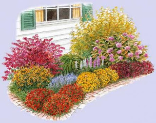 derri re les murs de notre jardin cr ation d 39 un massif fleuri. Black Bedroom Furniture Sets. Home Design Ideas