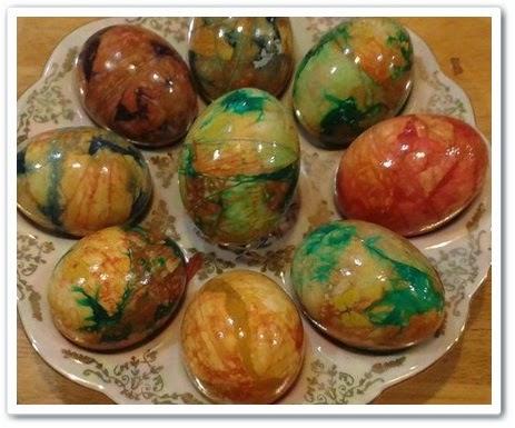 Пасхальные «Мраморные» яйца