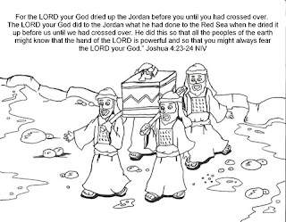 Coloring pages of joshua jordan river memorial stones crossing the jordan river