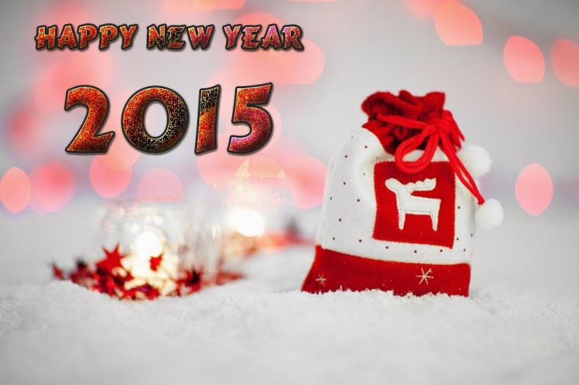 Shining White Snow Happy New Year Wallpapers 2015