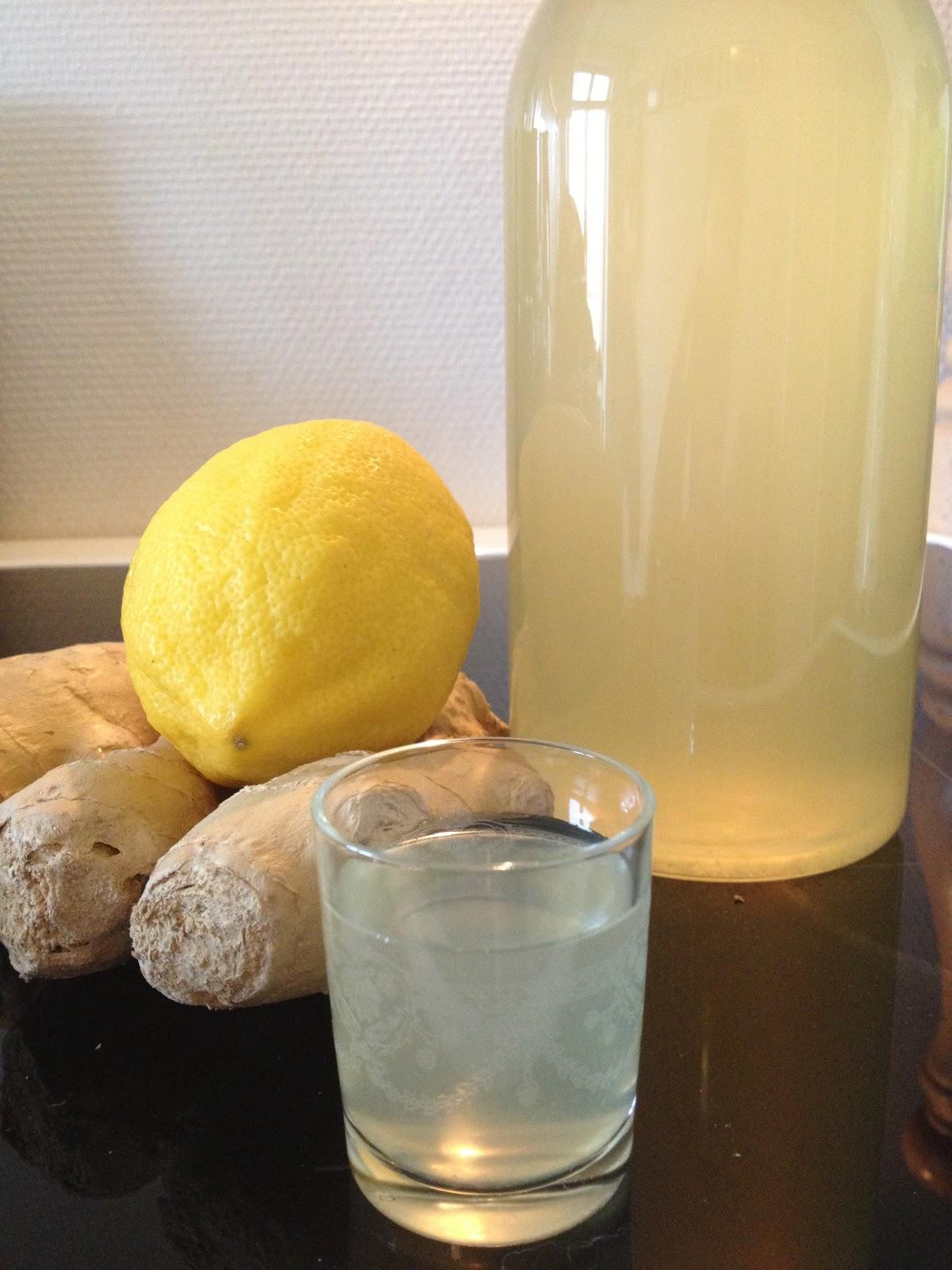 ingefærdrik med citron