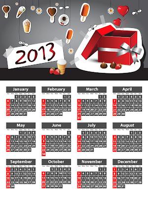 Calendario del Año Nuevo 2013 para compartir con todos sus amigos