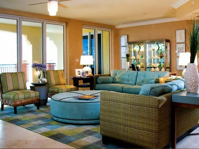 Best Living Room Color Ideas Featuring Accents of Blue