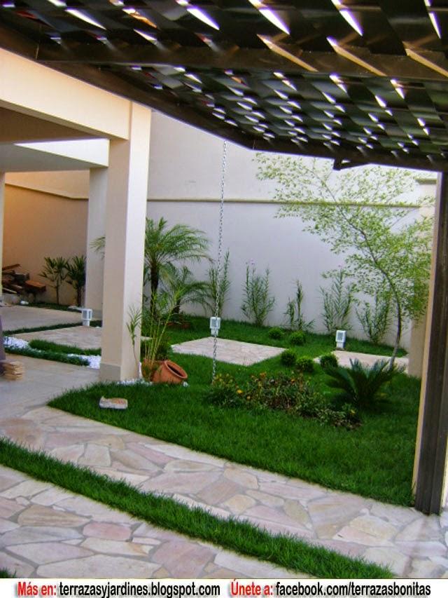Diseno de jardin iluminado terrazas y jardines fotos de for Diseno jardines