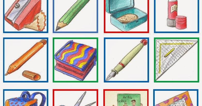 Drachenstu00fcbchen: Memoria zum Wortschatz Schulsachen