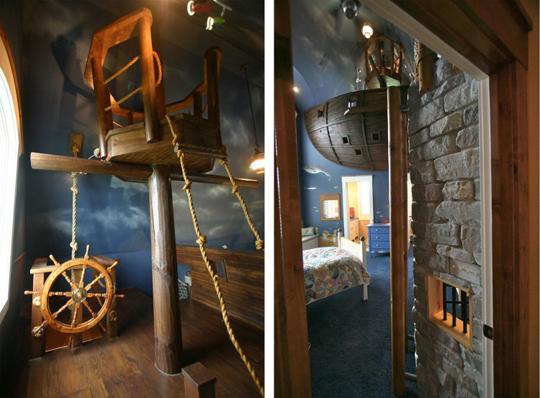 Schiffsdeck samt Steuerrad und Ausguck im Kinderzimmer - ein Traum zum Selbermachen!