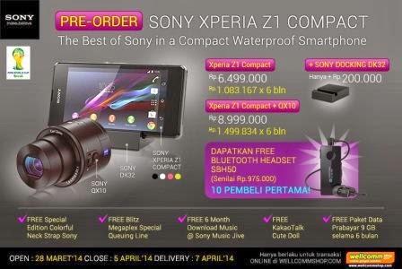 Sony Xperia Z1 Compact sudah tersedia dipasar lokal