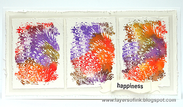 Layers of ink - Marble Card by Anna-Karin