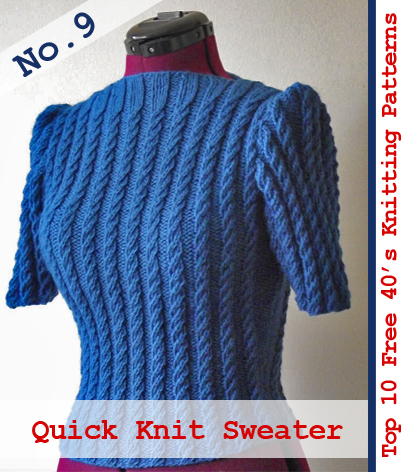 Guest Post Top 10 Free 1940s Knitting Patterns From The Vintage