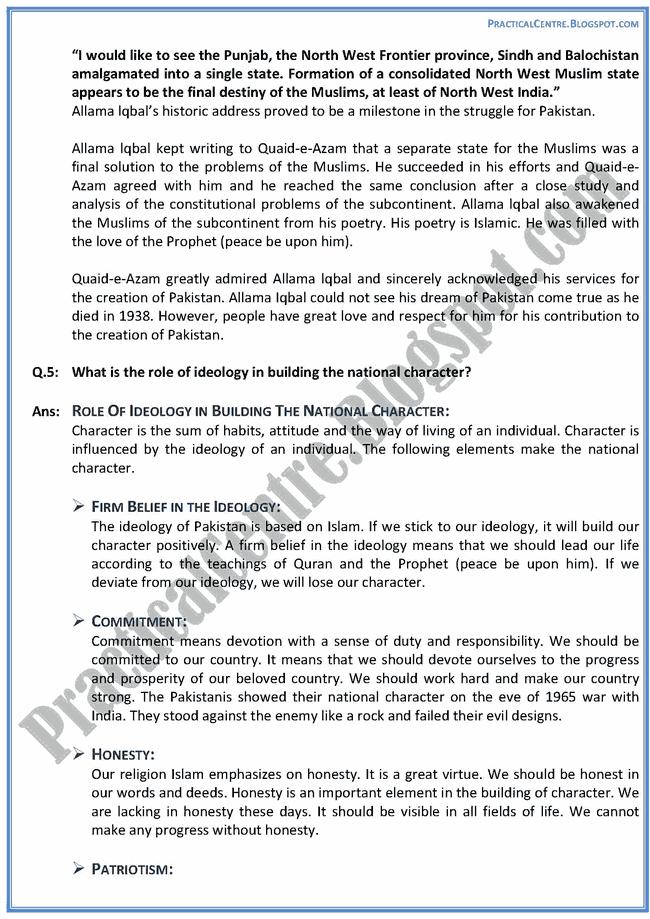 ideological-basis-of-pakistan-descriptive-question-answers-pakistan-studies-9th