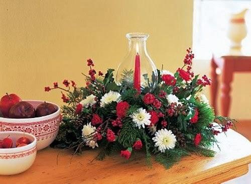 Centros de mesa de navidad con flores parte 1 - Centro de mesa con flores ...