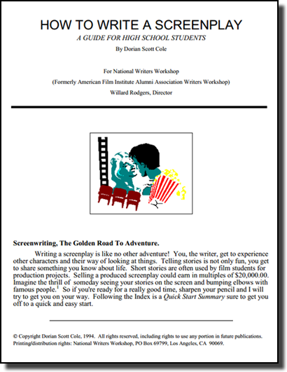 how to write screenplays How to write a screenplay tips on developing ideas to write a movie script, guidelines on screenplay structure, and advice on planning your screenplay outline.