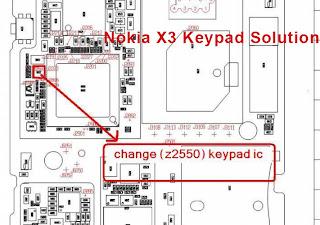 cellfirmware  Nokia x3    keypad       ic    problem solution