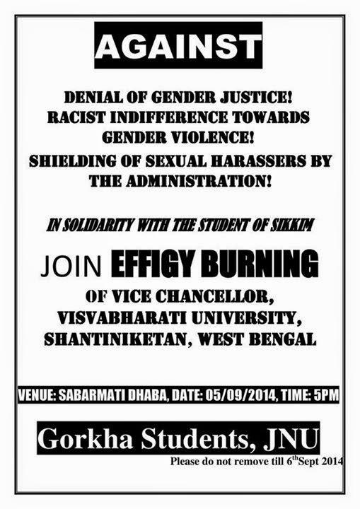 Gorkha Students, JNU, New Delhi Condemn Condemn Sexual Assault and Blackmailing of Sikkim Girl