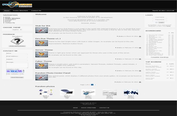 Free Grey Black Business Phpfusion Theme Template