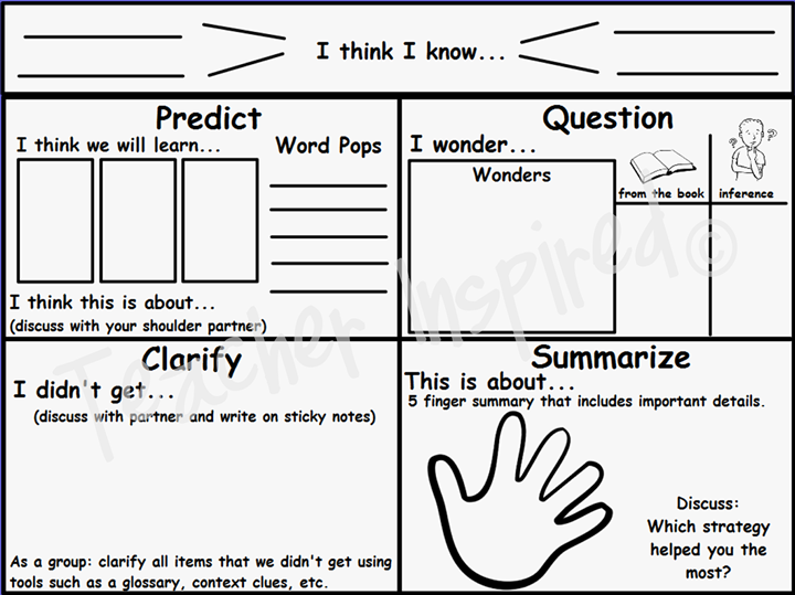 Collection of Reciprocal Reading Worksheet Sharebrowse – Reciprocal Teaching Worksheet
