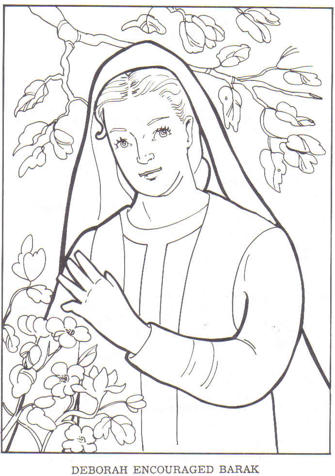 deborah bible coloring pages - photo#13
