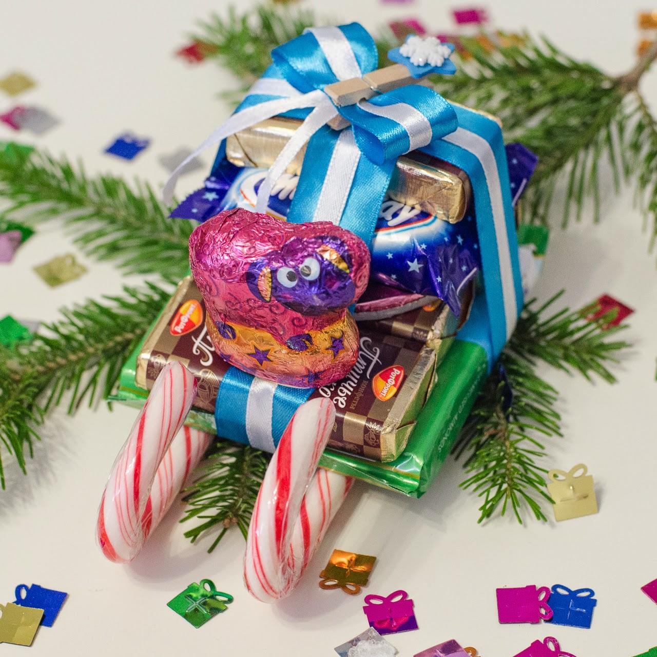 Как сделать сладкий подарок на новый год своими руками ребенку