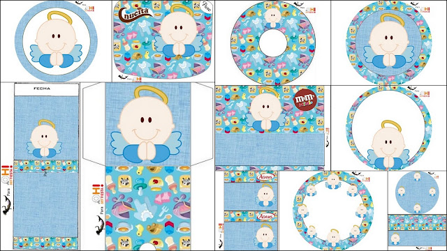 Angel para Niños: Etiquetas Candy Bar para Imprimir Gratis.