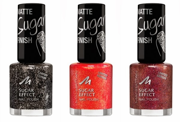 MANHATTAN Visions of me Sugar Effect Nail Polish - Give me sparkle                   Coral glam                       Glitter for life