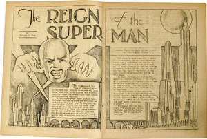Siegel and Shuster's original Superman concept Ubermensch