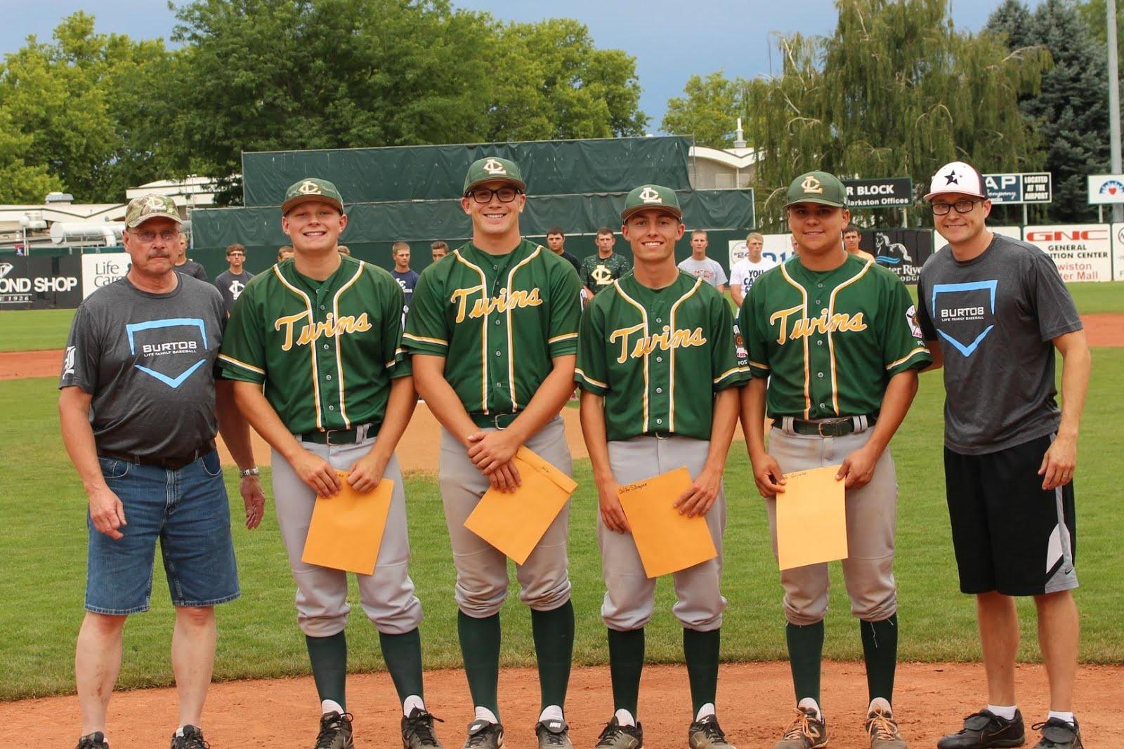 $500 Scholarship Winners - Joshua Moore, Logan Chase, Dalton Stamper, Cole Grijalva