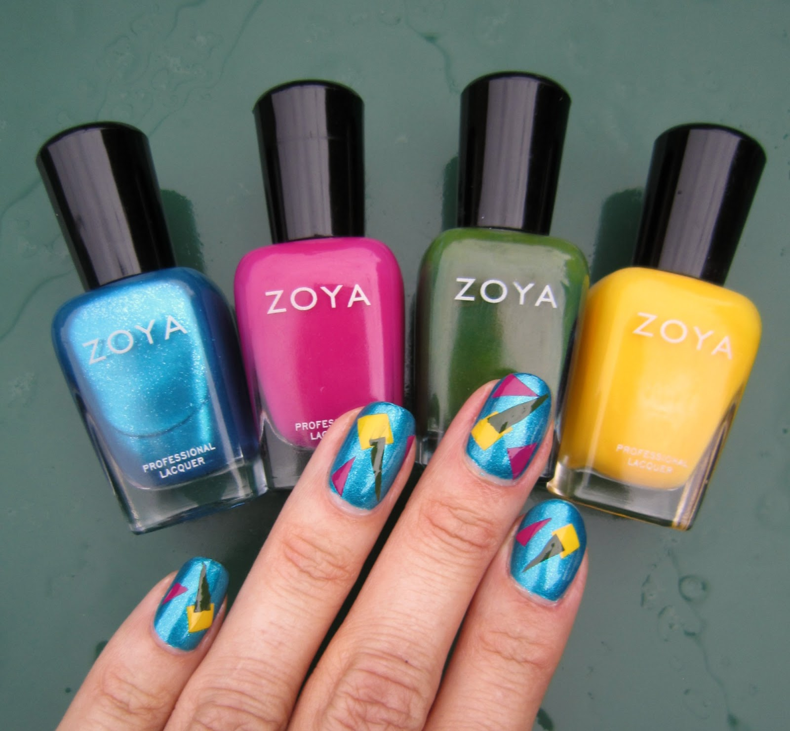 Concrete and Nail Polish: DIY Nail Decals With Zoya