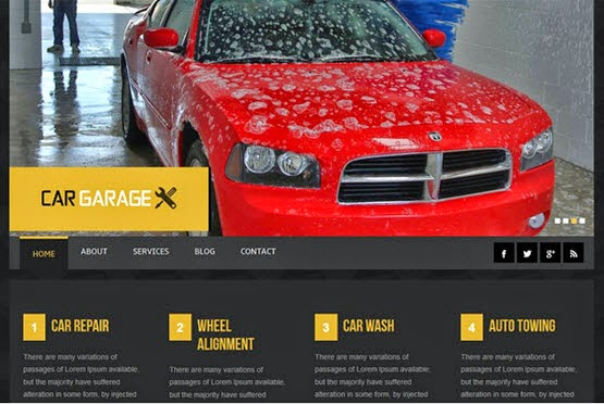 Car Garage web template