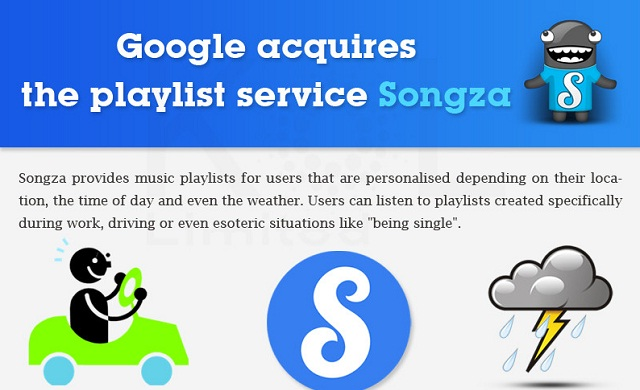 Image: Google Acquires Music Streaming Service Songza #infographic