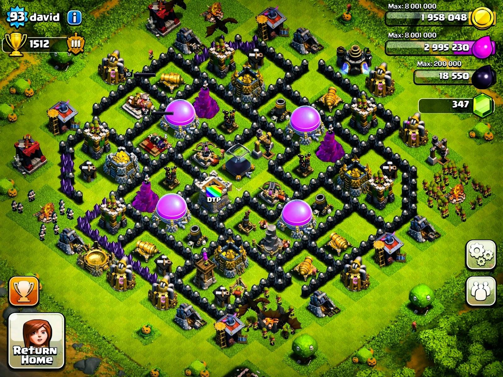 Clash of clans base pertahanan terbaik town hall level 9 clash of