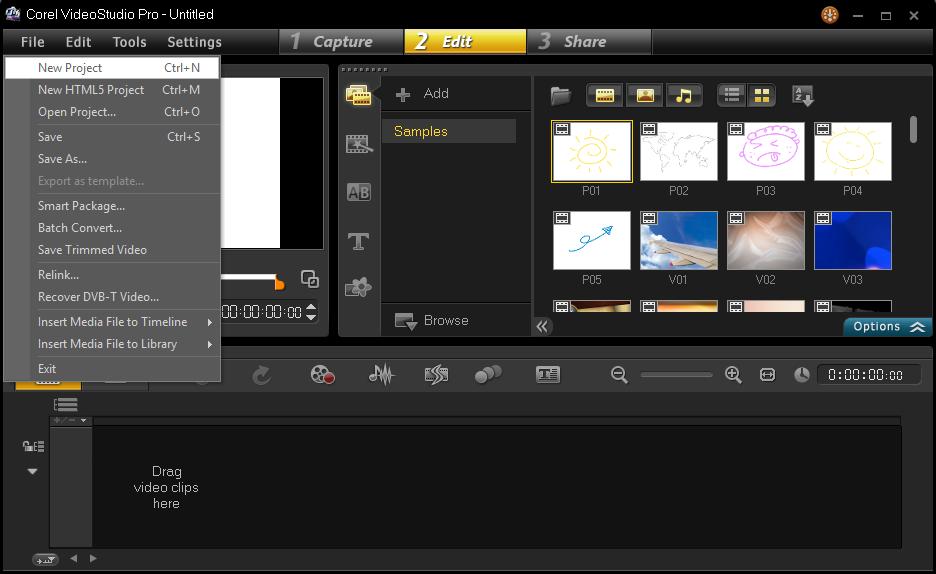 Cara Memulai Membuat Project Corel Video Studio 2