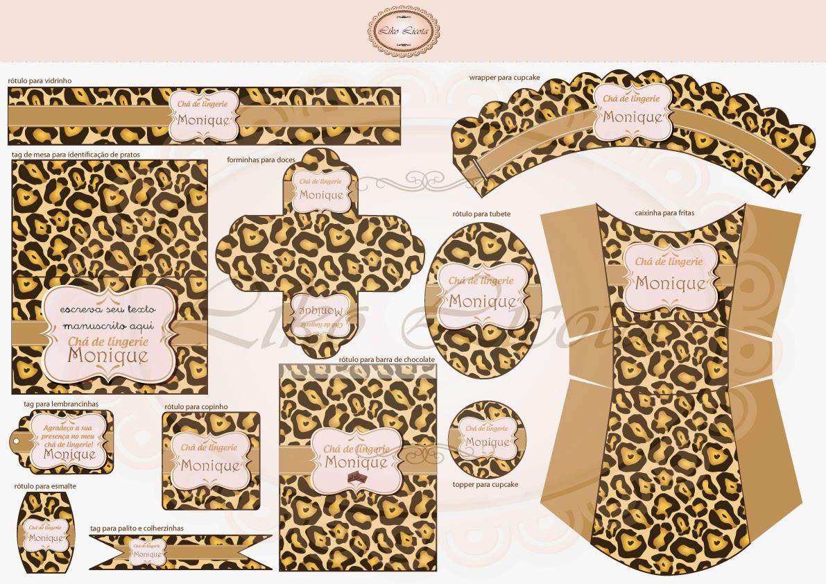 rótulos personalizados para cha de lingerie