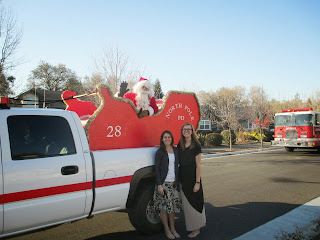 Sister Missionaries and Santa's Sleigh