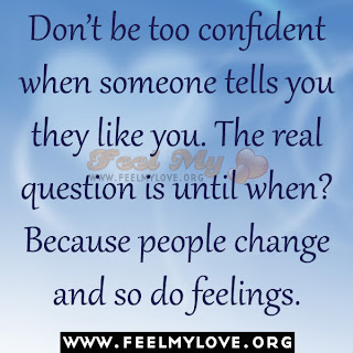 Don't be too confident when someone tells you..