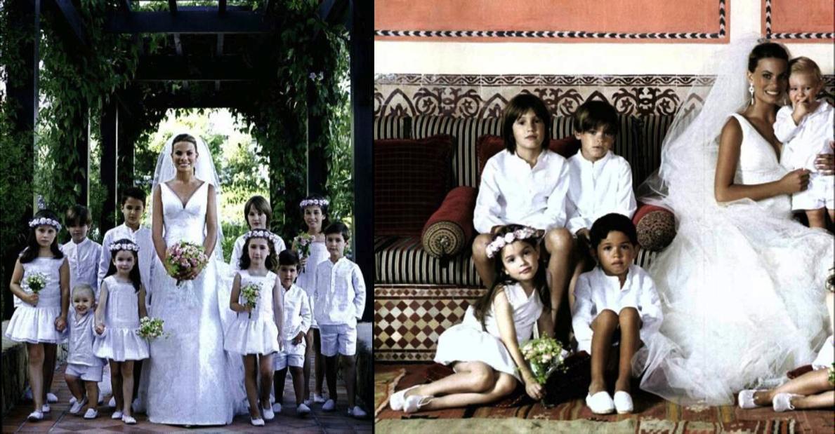 Pajes de boda de Carla Goyanes