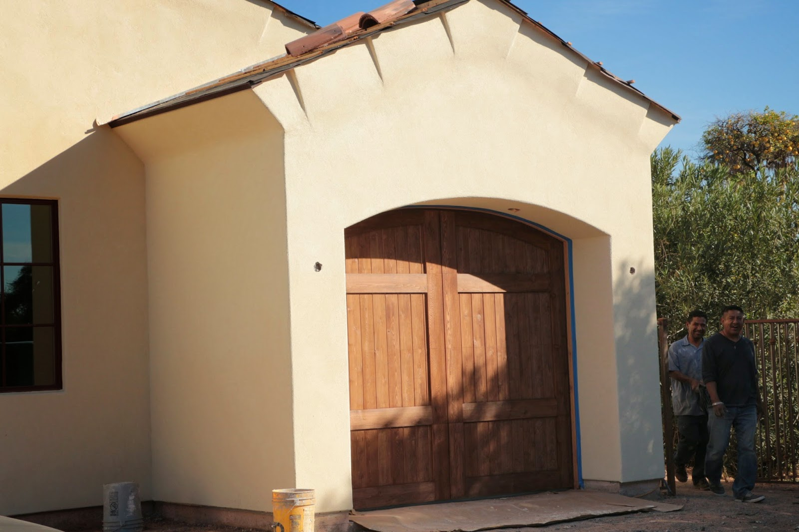 stained cedar garage doors, fake carriage garage doors