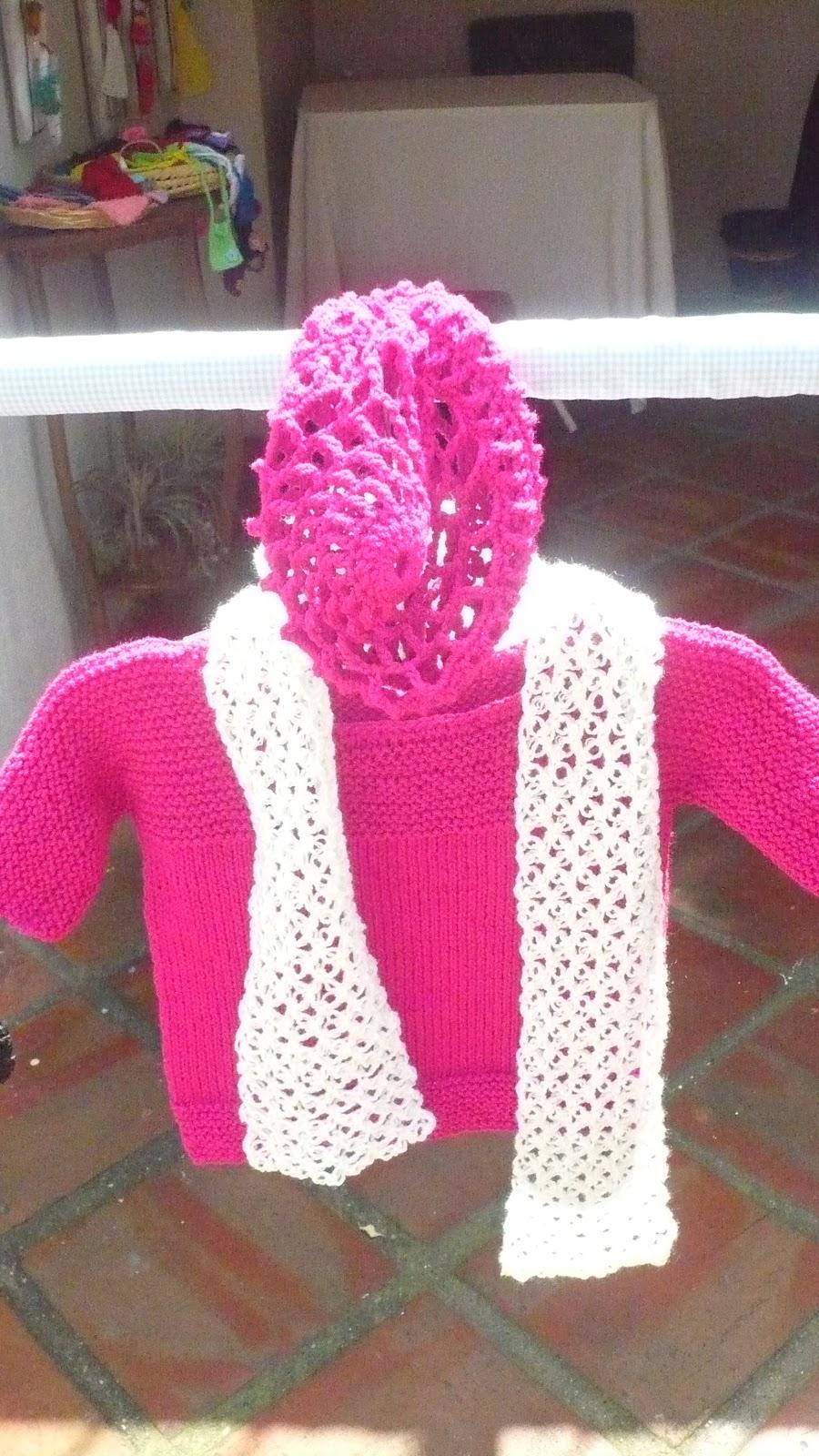 Dtejidodetalles: Blusa para niña tejida en dos agujas