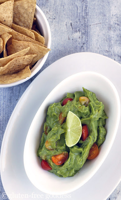 Karina's easy vegan guacamole- vegan and dairy-free.