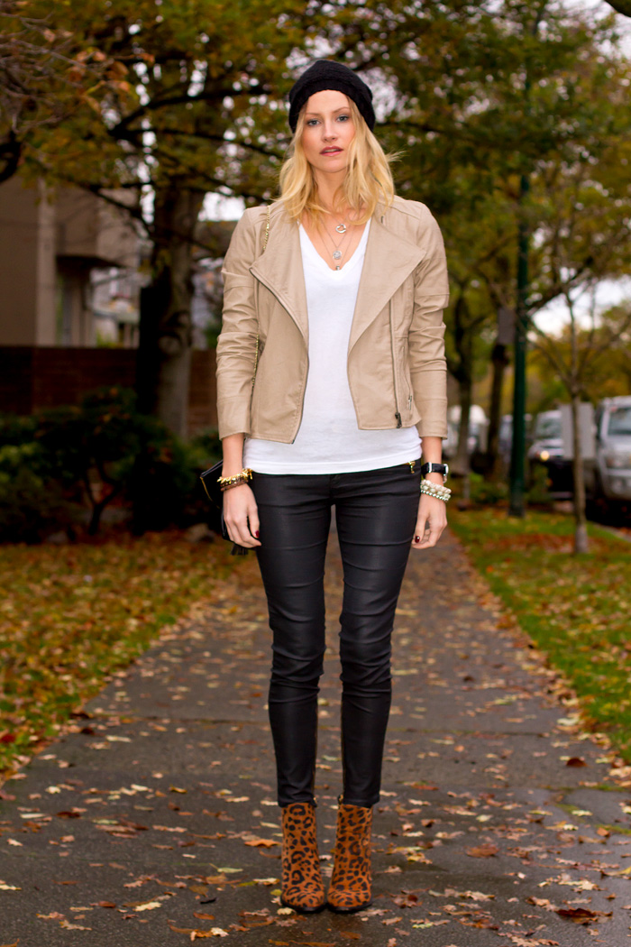 stunning light tan leather jacket outfits