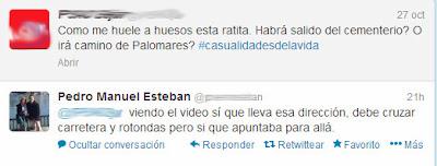 captura de pantalla tuiter del concejal de medio ambiente riéndose de la denuncia de la existencia de ratas en Los praos