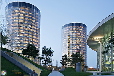 World largest car parking in Germany buildings infrastructure strange architecture Garage