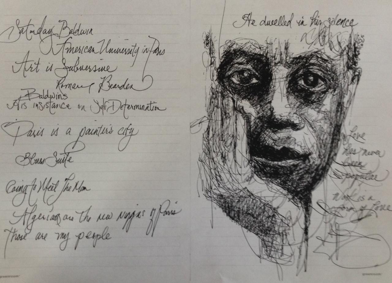 BALDWIN INSPIRES AN ARTIST