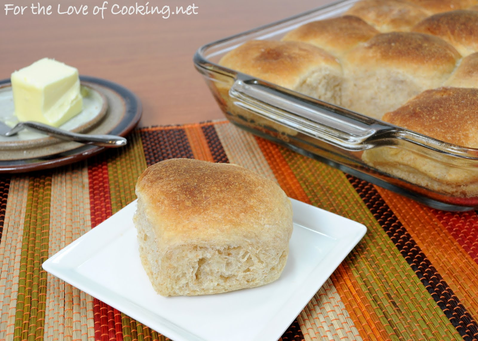 Roasted Garlic Whole Wheat Dinner Rolls | For the Love of Cooking