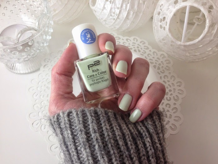 P2 Rich Care + Color So Fresh Review und Swatches - Hellgrüner Nagellack